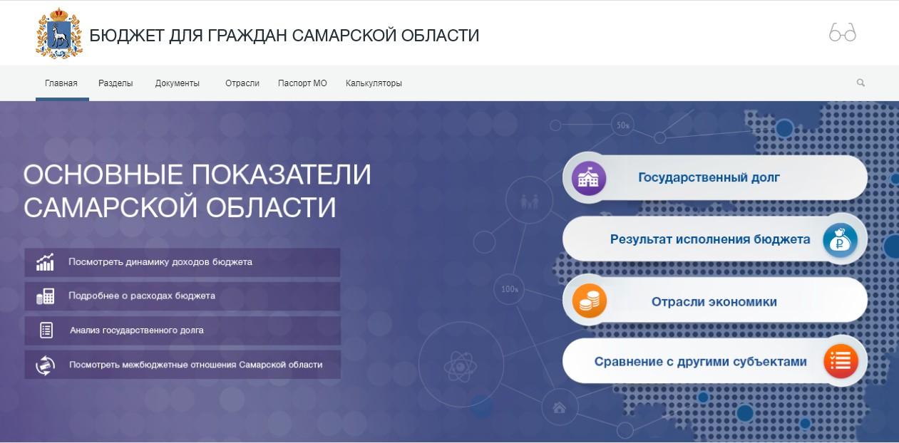 Бюджет для граждан Самарской области budget.minfin-samara.ru